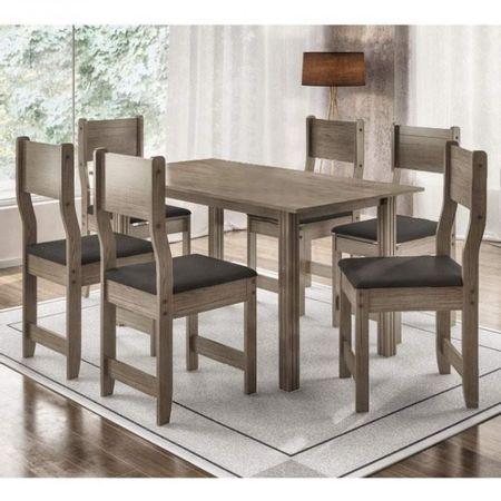 Mesa-com-6-Cadeiras-Dallas-150-Nogal-Preto---Indekes
