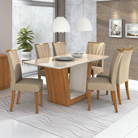 Conjunto-Mesa-Apogeu-Plus-170-Tampo-E-Vidro-Off-White-6-Cadeiras-Apogeu---Lopas