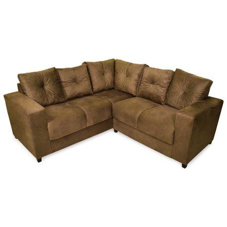 Sofa-de-Canto-2-e-3-Lugares-Tecido-Animali-Tabaco-Russia---Master