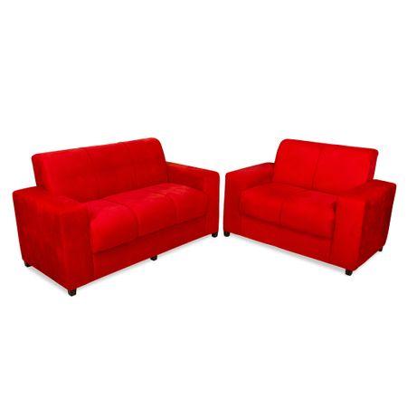 Conjunto-Sofa--2-e-3-Lugares-Tecido-Animali-Vermelho-Veneza---Master