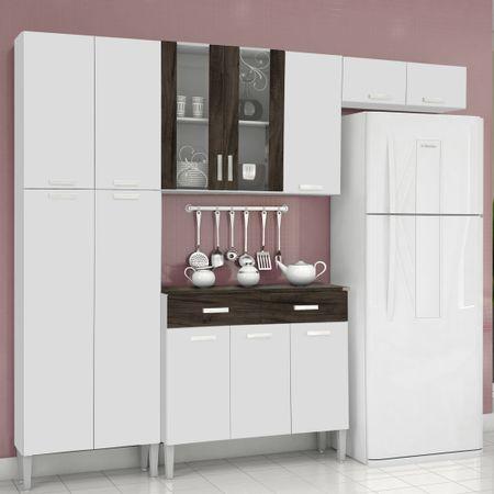 Cozinha-Completa-9-Portas-Alfa-Top-Com-Balcao-Branco-Petroleo-Kits-Parana