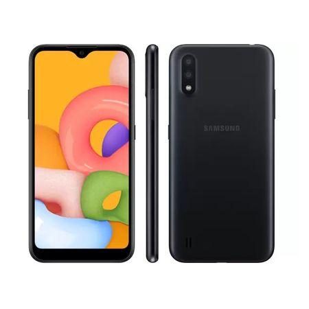 "Smartphone-Samsung-Galaxy-A-01-32-GB-Preto-Octa-Core-2-GB-RAM-Tela-57""-Camêra-Dupla-Camêra-Selfie-5-MP"