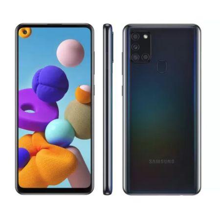 Smartphone-Samsung-Galaxy-A21s-64-gb-Preto-Camera-Quadrupla-48-mp-Selfie-13-mp-Dual-Chip-Android-10