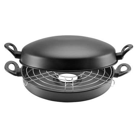 Churrasqueira-Grill-Antiaderente-Para-Fogao-Panelux-Classic-30cm-Cinza-051449