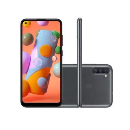 Smartphone-Samsung-Galaxy-A11-64gb-Preto-4g-Octa-Core-3gb-Camera-Tripla-Selfie-8mp-A115