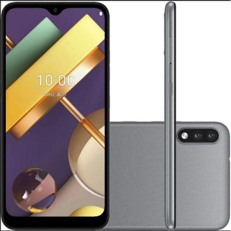 Smartphone-Lg-K22-32gb-Dual-Chip-Android-10-Tela-6.2-Quad-Core-Camera-13mp-2mp-Lmk-200-bmw-Titanio