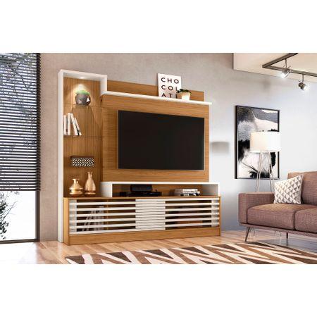 Estante-Home-Theater-Para-Tv-Ate-55-Polegadas-2-Portas-Frizz-Prime-Madetec-Naturale-off-White