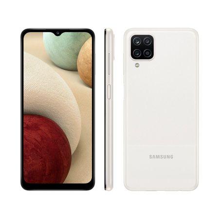 Smartphone-Samsung-Galaxy-A12-64gb-Branco-4g--Octa-core-4gb-Ram-65-Cam-Quadrupla-Selfie-8mp