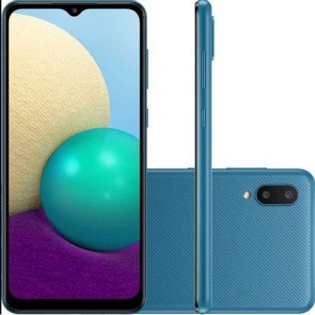 Smarphone-Samsung-Galaxy-A022-A02-32gb-Azul-Tela-6.5-Camera-Dupla